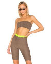 Alix NYC X Revolve Jane Top Skin В Цвете Военный Стиль - Olive. Размер L (также В M). - Многоцветный