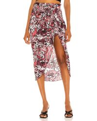IRO Dyma Midi Skirt - Mehrfarbig