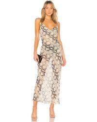 superdown - Dina Draped Maxi Dress - Lyst
