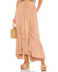 Free People X Revolve El Sol Maxi Convertible Skirt - Natural