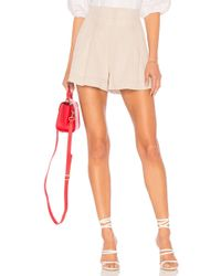 BCBGMAXAZRIA - Striped Pleated Short In Neutral - Lyst
