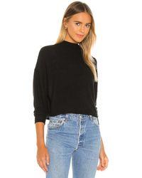 Chaser Cropped Funnel Neck Sweatshirt - Black