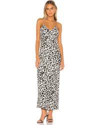 Anine Bing Платье-комбинация Rosemary В Цвете Леопард - White. Размер Xs (также В M). - Белый