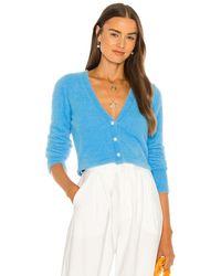 Amanda Uprichard Cosy Button Cardi - Blue