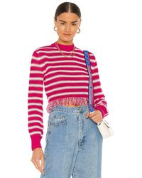 MSGM Striped Crochet Sweater - Mehrfarbig