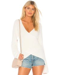 Michael Stars - Reversible Crossback Pullover In White - Lyst