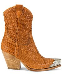 Free People Woven Brayden Ankle Boot - Brown