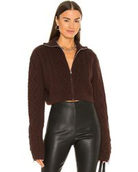 Danielle Guizio - Cable Knit Cropped セーター - Lyst