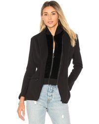 525 America - Cotton Velvet Inset Blazer In Black - Lyst