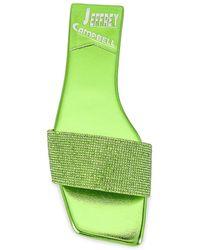 Jeffrey Campbell Шлепанцы Sparkley В Цвете Green Metallic - Зеленый