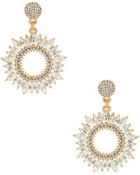 Shashi - Solar Earrings In Metallic Gold. - Lyst