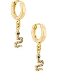 Natalie B. Jewelry - Petite Serpent フープイヤリング - Lyst