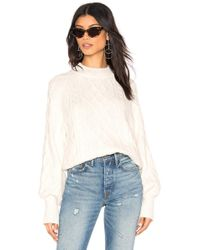 1.STATE - Mixed Cable Knit Sweater - Lyst