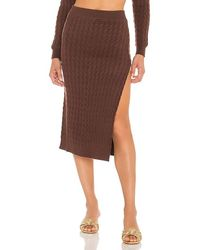 LPA Charlotte Midi Skirt - Brown