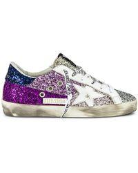 Golden Goose Кроссовки Superstar В Цвете Violet Dirty Pink Lavender White & Blue - Пурпурный
