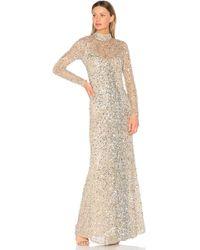 Parker Black - Leandra Gown In Metallic Silver - Lyst