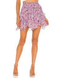 For Love & Lemons X Revolve Floral Mini Skirt - Pink