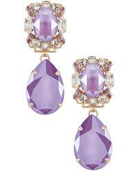 Anton Heunis Crystal Drop Earring. - Mehrfarbig