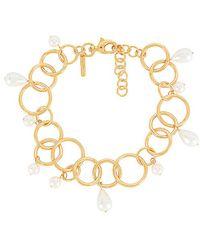 Lele Sadoughi Teardrop Hoop Necklace - Metallic