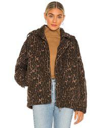 One Teaspoon - Куртка Puffa В Цвете Bronze Leopard - Lyst