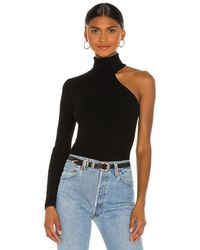 Bardot Blusa asymmetric - Negro