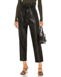 Blank NYC Paperpag Waist Vegan Leather Pant - Black