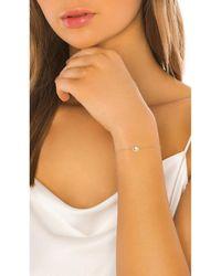 EF Collection White Diamond & White Topaz Emerald Cut Bolo Bracelet - Metallic