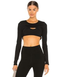 Year Of Ours Ribbed Active Shrug - Black