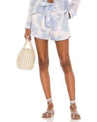 Bella Dahl Belted Button Front Shorts - Blue