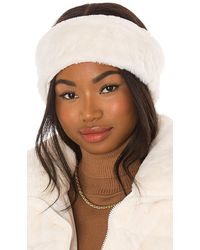 Apparis Eleni Faux Fur Headband - White
