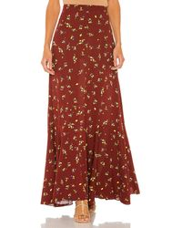Free People Falda maxi ruby's forever - Marrón