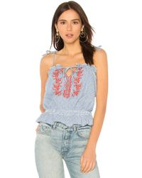 f5d05010e5 Ivy Embroidered Cami Top - Blue