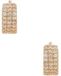 Shashi - Lara Huggie Earrings In Metallic Copper. - Lyst