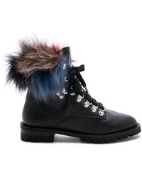 Rebecca Minkoff - Jaylin Fur Boot In Black - Lyst