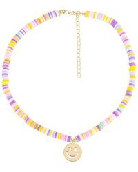 ADINAS JEWELS - Bead Smiley Face ネックレス - Lyst