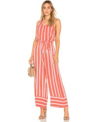 Band Of Gypsies - Stripe Cross Back Jumpsuit - Lyst