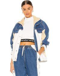 Alexander Wang Куртка Track В Цвете Синий Мульти