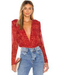 Nbd Sloane Bodysuit - Rot
