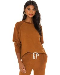 Monrow Raglan スウェットシャツ - ブラウン