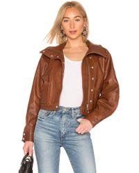 LPA Oversized Leather ジャケット - ブラウン