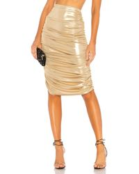 Norma Kamali - Shirred Skirt - Lyst