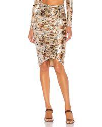 Nbd Mads Midi Skirt - Mettallic
