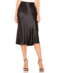 71538c030f Vince Pleated Leather A-Line Skirt in Black - Lyst