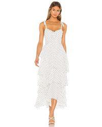 Flynn Skye Leona Midi Dress - White
