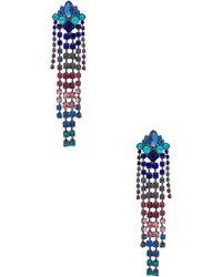 Rebecca Minkoff - Gemma Crystal Fringe Earrings - Lyst