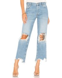 Free People Maggie Straight Jean - Blue