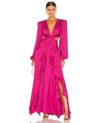 PATBO Plunge Cutout Gown - Pink