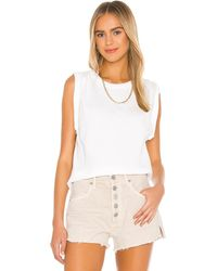 Citizens of Humanity Jordana Rolled Sleeve Tee - White