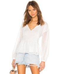 Cupcakes And Cashmere - Amber Blouse In White - Lyst