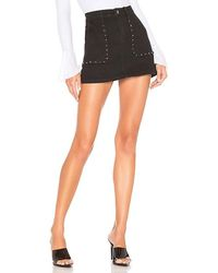 superdown Mona Studded Mini Skirt - Black